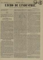 L'Echo de l'industrie : journal des intérêts des travailleurs et de la fabrique lyonnaise, N°30