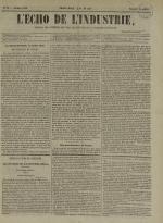 L'Echo de l'industrie : journal des intérêts des travailleurs et de la fabrique lyonnaise, N°39