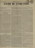 L'Echo de l'industrie : journal des intérêts des travailleurs et de la fabrique lyonnaise, N°4