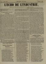 L'Echo de l'industrie : journal des intérêts des travailleurs et de la fabrique lyonnaise, N°44