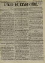 L'Echo de l'industrie : journal des intérêts des travailleurs et de la fabrique lyonnaise, N°45