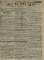 L'Echo de l'industrie : journal des intérêts des travailleurs et de la fabrique lyonnaise, N°48