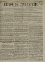 L'Echo de l'industrie : journal des intérêts des travailleurs et de la fabrique lyonnaise, N°49