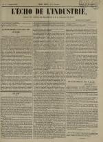 L'Echo de l'industrie : journal des intérêts des travailleurs et de la fabrique lyonnaise, N°5