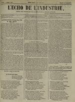 L'Echo de l'industrie : journal des intérêts des travailleurs et de la fabrique lyonnaise, N°50