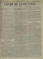 L'Echo de l'industrie : journal des intérêts des travailleurs et de la fabrique lyonnaise, N°52