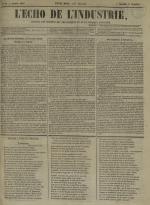 L'Echo de l'industrie : journal des intérêts des travailleurs et de la fabrique lyonnaise, N°53