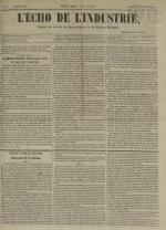 L'Echo de l'industrie : journal des intérêts des travailleurs et de la fabrique lyonnaise, N°6