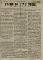 L'Echo de l'industrie : journal des intérêts des travailleurs et de la fabrique lyonnaise, N°7