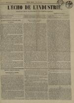 L'Echo de l'industrie : journal des intérêts des travailleurs et de la fabrique lyonnaise, N°8