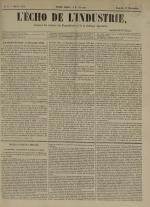 L'Echo de l'industrie : journal des intérêts des travailleurs et de la fabrique lyonnaise, N°9