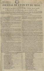 Le Journal de Lyon et du Midi, N°1