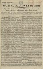 Le Journal de Lyon et du Midi, N°10
