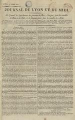 Le Journal de Lyon et du Midi, N°11
