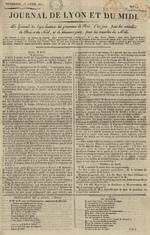 Le Journal de Lyon et du Midi, N°14
