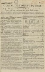 Le Journal de Lyon et du Midi, N°15