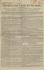 Le Journal de Lyon et du Midi, N°16
