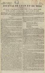 Le Journal de Lyon et du Midi, N°20
