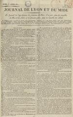 Le Journal de Lyon et du Midi, N°7