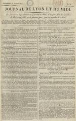 Le Journal de Lyon et du Midi, N°8