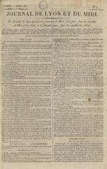 Le Journal de Lyon et du Midi, N°9
