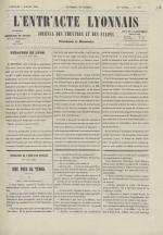 L'Entr'acte lyonnais,  N°1247, pp. 1
