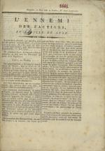 L'Ennemi des factions et Feuille de Lyon