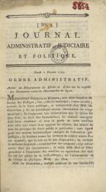 Journal administratif judiciaire et politique, N°1