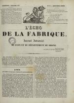 L'Echo de la fabrique, N°15, pp. 1