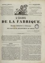 L'Echo de la fabrique, N°22, pp. 1