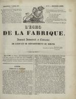 L'Echo de la fabrique, N°23, pp. 1