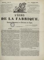 L'Echo de la fabrique, N°29, pp. 1