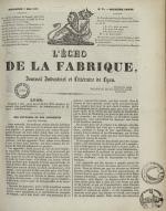 L'Echo de la fabrique, N°28, pp. 1