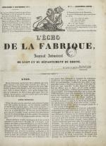L'Echo de la fabrique, N°3, pp. 1