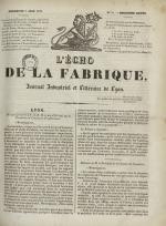 L'Echo de la fabrique, N°32, pp. 1
