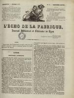 L'Echo de la fabrique, N°36, pp. 1