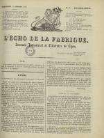 L'Echo de la fabrique, N°38, pp. 1