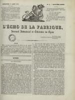 L'Echo de la fabrique, N°43, pp. 1