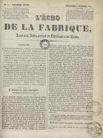 L'Echo de la fabrique, N°51, pp. 1