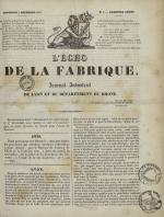 L'Echo de la fabrique, N°6, pp. 1