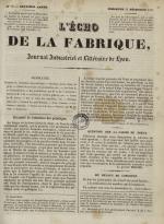 L'Echo de la fabrique, N°61, pp. 1