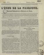 L'Echo de la fabrique, N°1, pp. 1