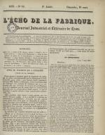 L'Echo de la fabrique, N°10, pp. 1