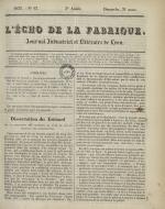L'Echo de la fabrique, N°13, pp. 1