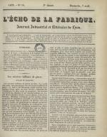 L'Echo de la fabrique, N°14, pp. 1
