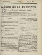 L'Echo de la fabrique, N°19, pp. 1