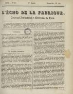 L'Echo de la fabrique, N°24, pp. 1
