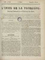 L'Echo de la fabrique, N°26, pp. 1