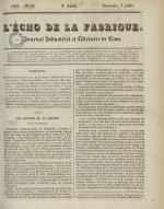 L'Echo de la fabrique, N°27, pp. 1