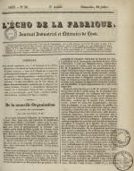 L'Echo de la fabrique, N°30, pp. 1